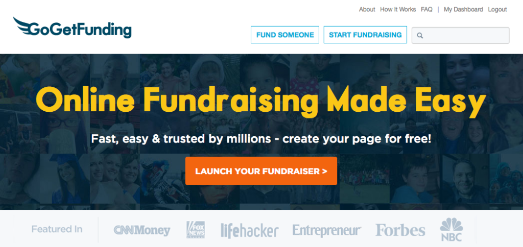Online fundraising website